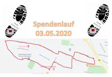 Die Läufer sind unterwegs – Spendenmarathon der FTS am 03.05.2020